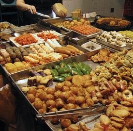 Comida callejera en Hong Kong