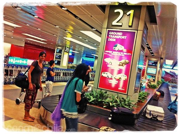 En el aeropuerto de Singapur