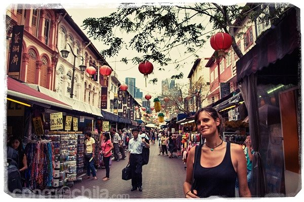 La calle principal de chinatown