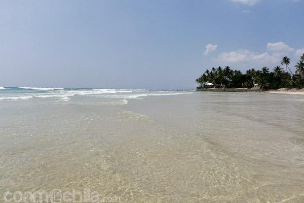 Una de las playas del sur de Sri Lanka
