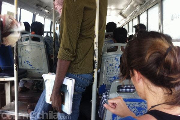 En el bus camino de Mamallapuram