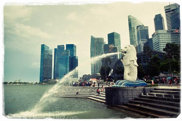 Y el emblema de Singapur: el Merlion