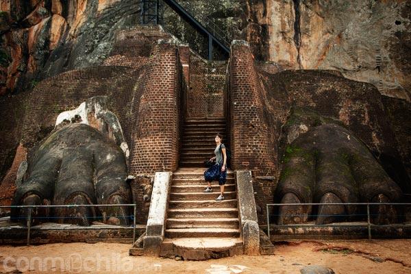 A los pies del león en Sigiriya