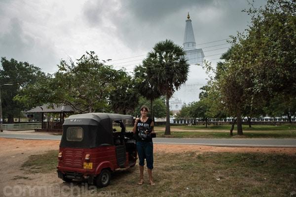 Visitando templos con el tuk-tuk
