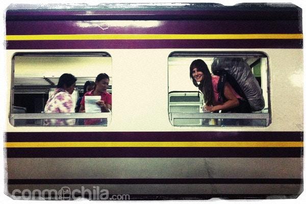 Buscando sitio en nuestro tren