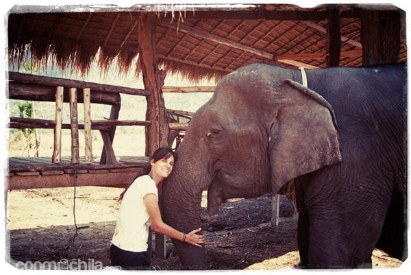 Con mi querida Aum Phan...