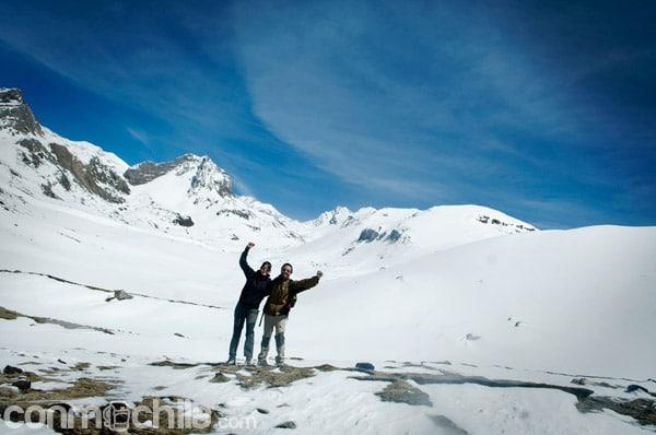 En el Ice Lake (4600m) en una jornada de aclimatación para evitar el mal de altura