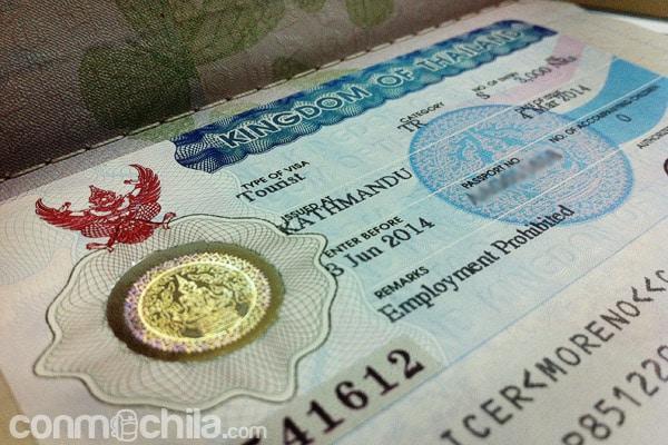 El visado de Tailandia en Nepal