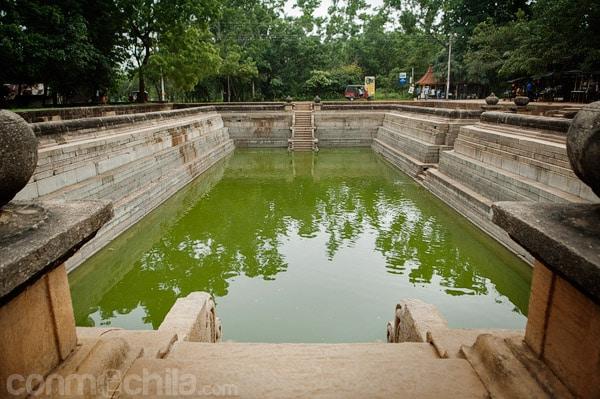 Uno de los tanques de agua