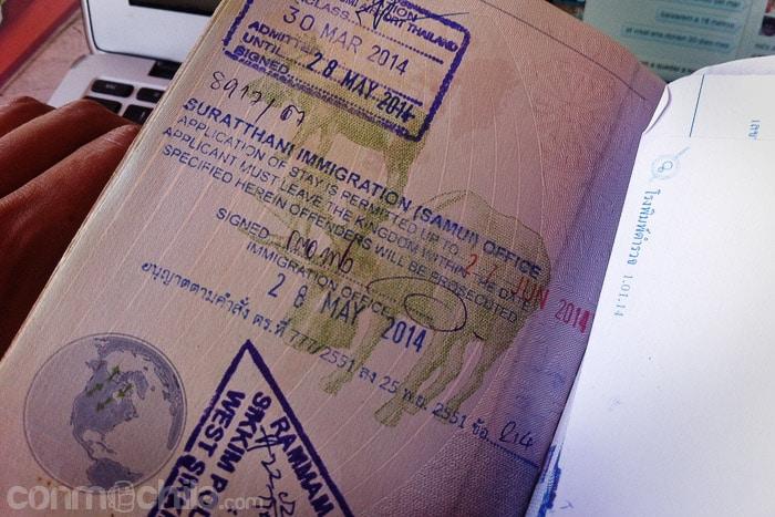 La extensión del visado de Tailandia en Koh Samui