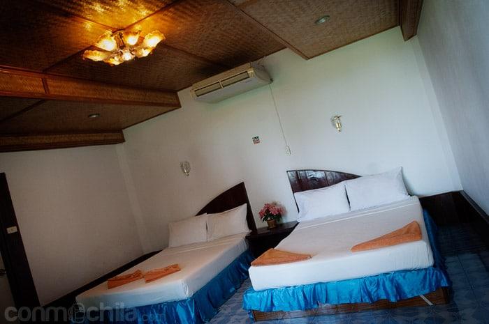 Interior de un bungalow