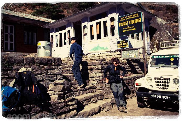 El check point de Dharapani
