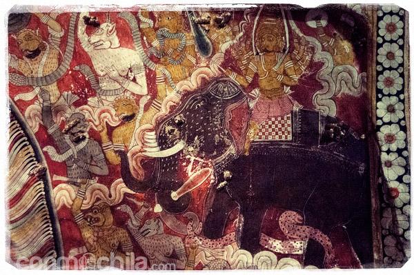 Detalle de las pinturas de las pardes