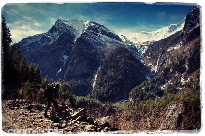 Las grandiosas montañas de los Annapurnas