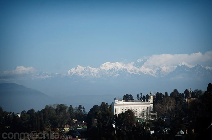 La vista del Kanchenjunga