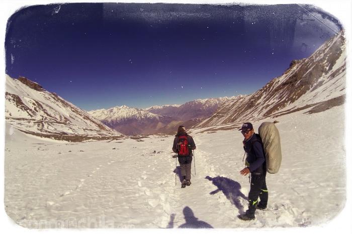 La bajada hacia Muktinath