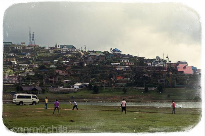 Gente jugando al cricket