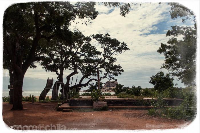 Los restos del bungalow