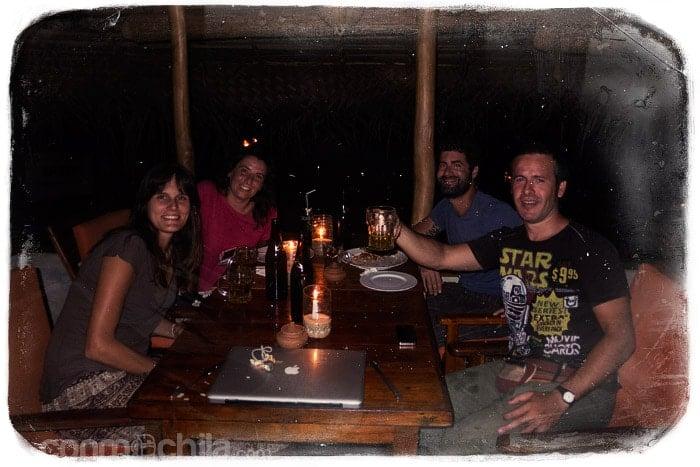 Cenando con Diana y Fede