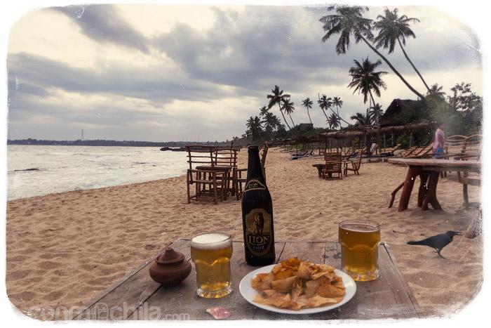 ¿Qué tal una cervecita frente al mar?