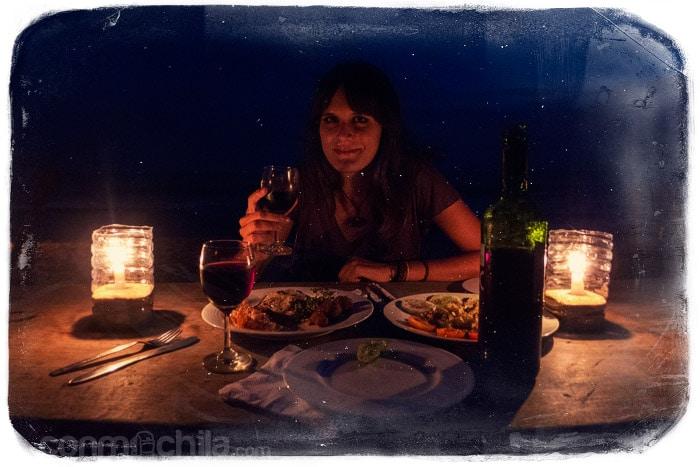 Un brindis a la luz de las velas...