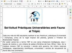 El IBT (Instituto de biodiversidad tropical) y unas prácticas fantasma