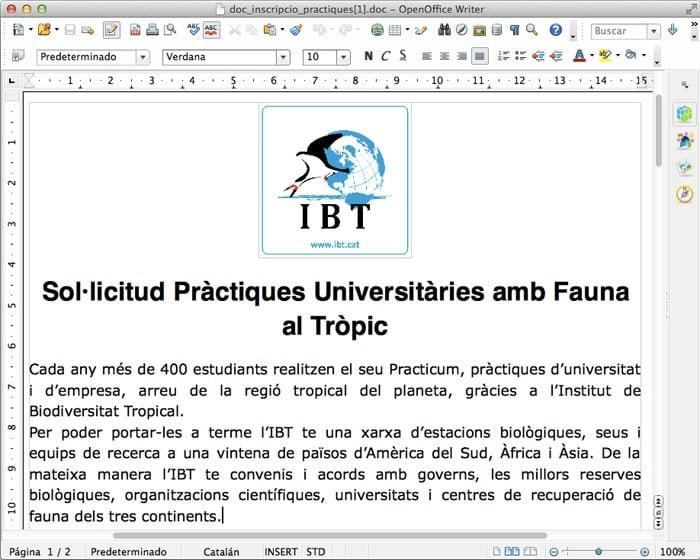"""El documento del IBT para las """"prácticas universitarias"""""""