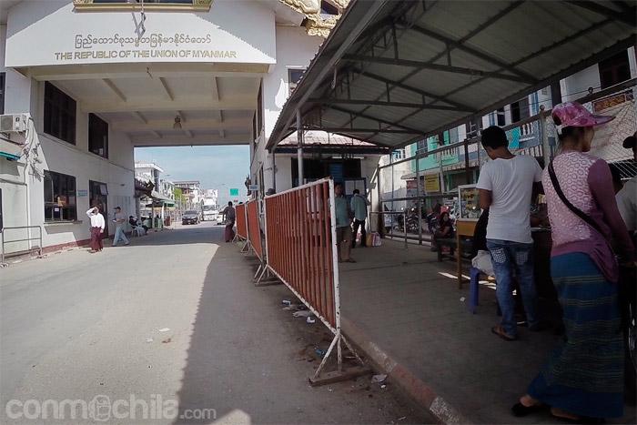 La zona de la frontera de Myanmar