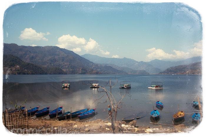 El lago de Pokhara