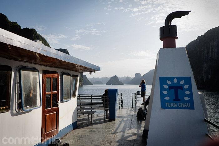 El paseo en ferry por la bahía