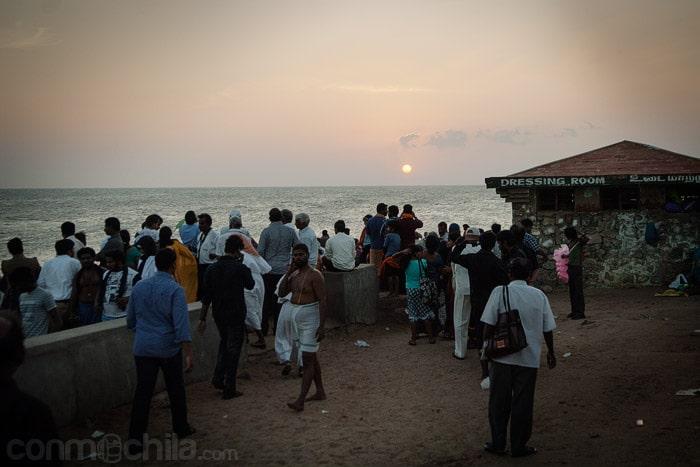 Puesta de sol en la puntita de India