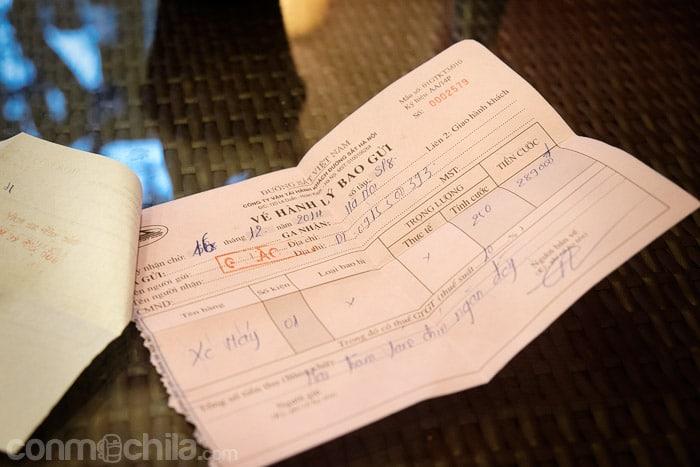 Ticket de la moto