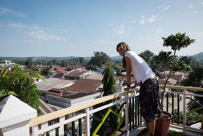 En la terraza de nuestro hotel