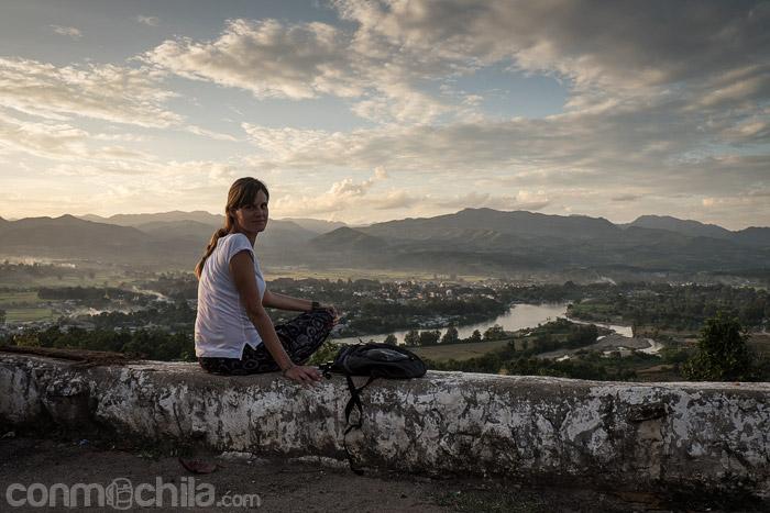 La puesta de sol y las vistas de Hsipaw