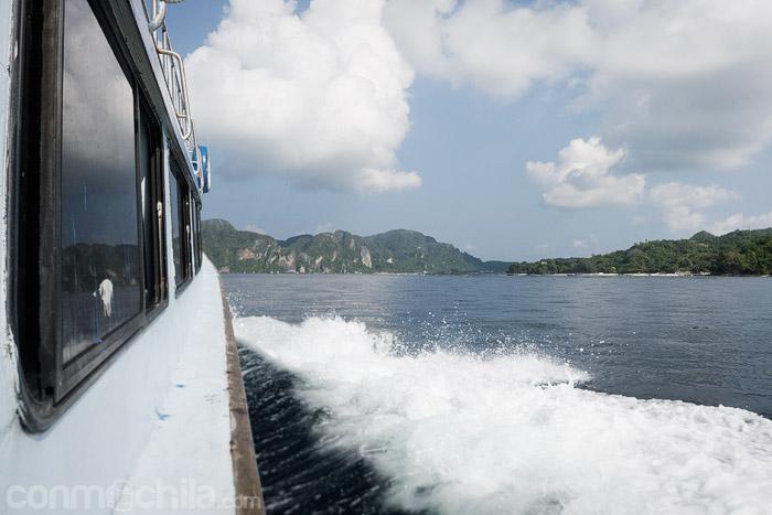 Llegando a Ko Phi Phi Don