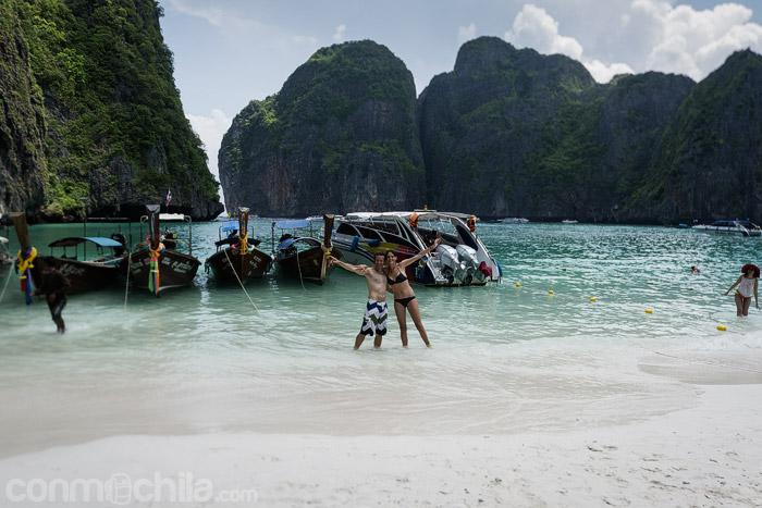 """La playa"" famosa de Maya bay"