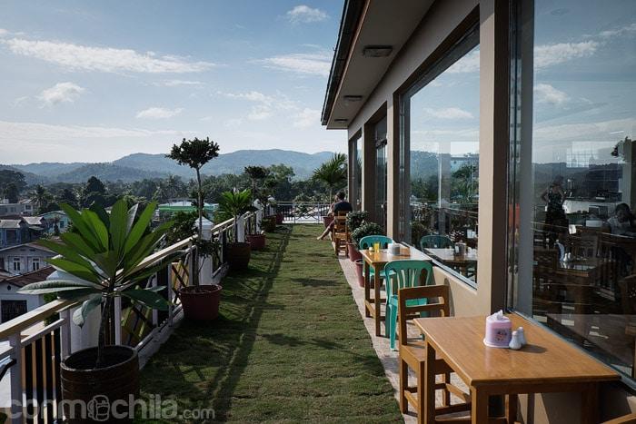 La terracita con vistas de Hsipaw