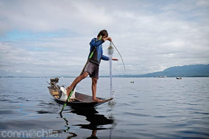 Pescador en Lago Inle
