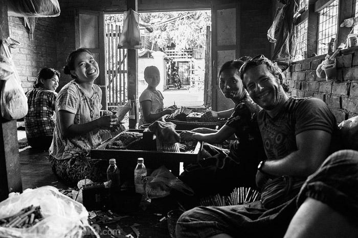 Momentos agradables con la gente birmana