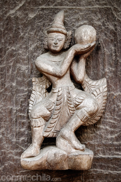 Detalle escultura de madera