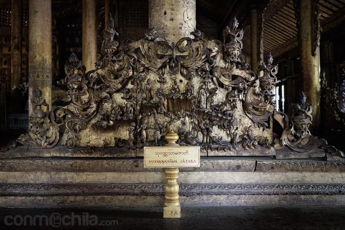 Otro detalle de la ornamentación en el interior del monasterio
