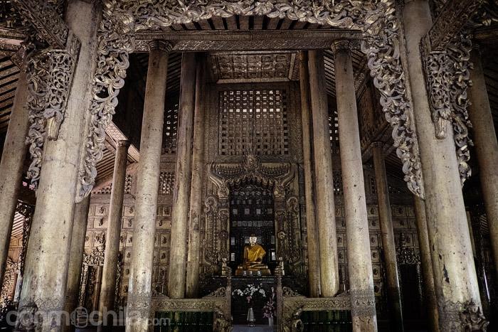 La zona donde se encuentra una imagen de Buda