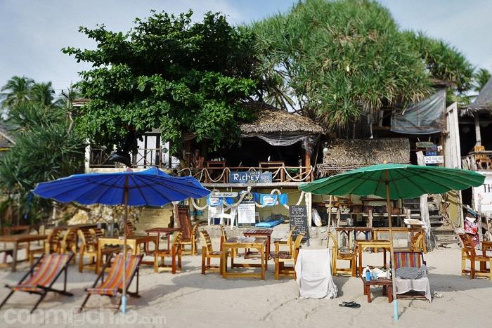 Vista del Rickey bar desde la playa