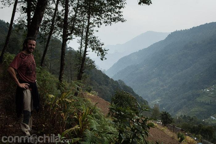 Paisaje bajando la montaña