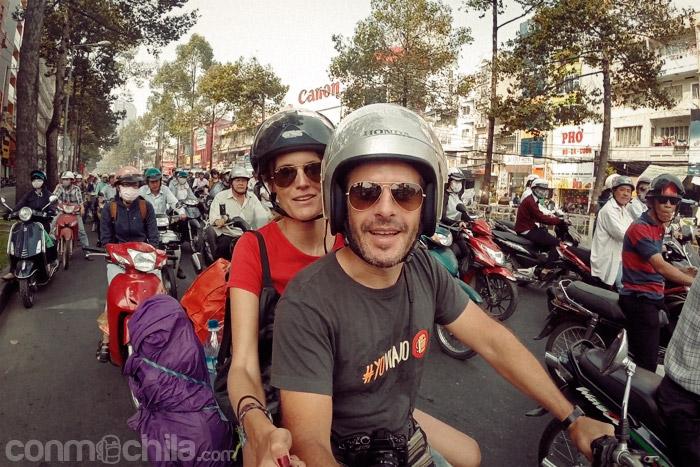 Avispero de motos en Ho Chi Minh city