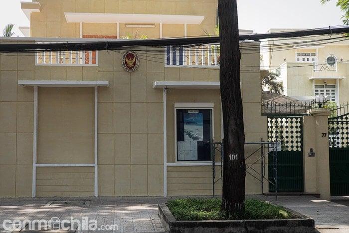La fachada del consulado de Tailandia en Ho Chi Minh city
