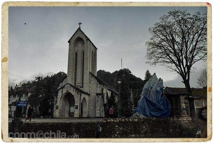 La iglesia de Sapa sin niebla