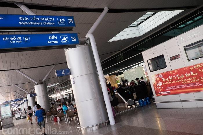 El aeropuerto de Ho Chi Minh city