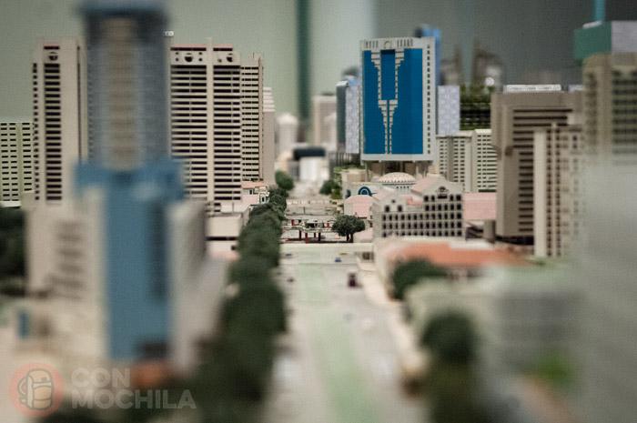 Detalle de una calle de Singapur