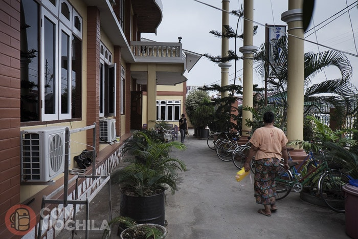 Zona exterior privada del hotel a modo de terraza